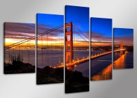 Leinwand Bild fert gerahmt Golden Gate Bridge160cm XXL 5 5512