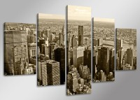 "Pictures on canvas length length 63"" height 31"" Nr 5514 New York Skyline"