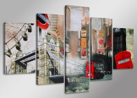 "Pictures on canvas length length 63"" height 31"" Nr 5515 London"