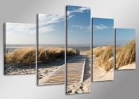"Pictures on canvas length length 63"" height 31"" Nr 5517 Baltic Sea Nature"