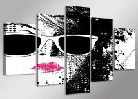 Leinwand Bild fert gerahmt Fashion pop art 160cm XXL 5 5518