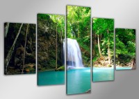 "Pictures on canvas length length 63"" height 31"" Nr 5520 waterfall"