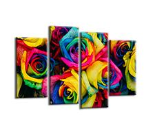 Leinwand Bild fert gerahmt bunte Rosen 130 x 80 cm  6002