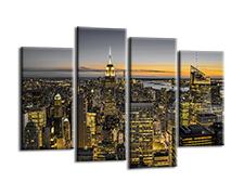 Leinwand Bild fert gerahmt New York Skyline 130 x 80 cm  6003