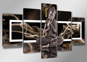 Leinwand Bild fert gerahmt buddha 200cm XXL 5 6306