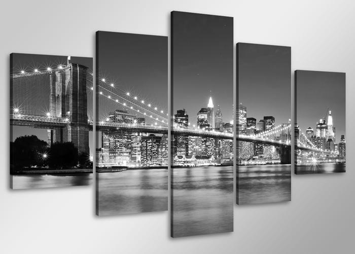 Bilder / Bild Marke Visario 5tlg echte Leinwand 100x50cm modern New ...