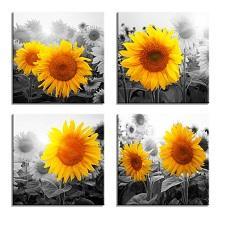 Leinwand Bild fert gerahmt Sonnenblume 4 x 30 x 30 cm 6614