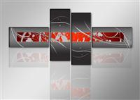 "Pictures on canvas length length 77"" height 31"" Nr 6803 abstract"