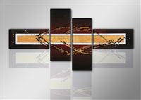 "Pictures on canvas length length 77"" height 31"" Nr 6808 abstract"