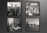 "Pictures on canvas length length 4 x 8"" height 8"" Nr 6901 New York"